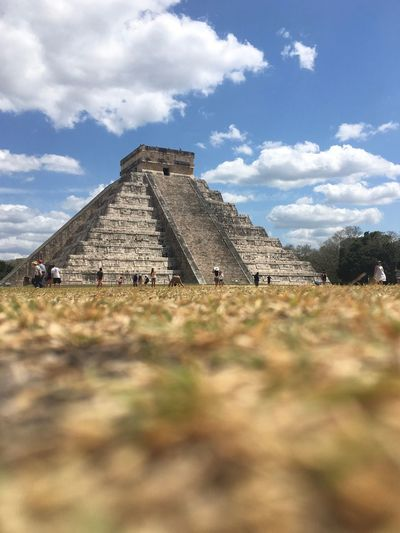 Mayan marvel! Mexico Cloud - Sky Architecture Sky History The Past Built Structure This Is Latin America Travel Pyramid Nature Travel Destinations Ancient Tourism Day Building Exterior Low Angle View Old Ruin Ancient Civilization The Traveler - 2018 EyeEm Awards The Great Outdoors - 2018 EyeEm Awards