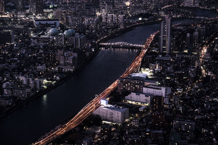 tokyo cityscape at night Architecture Building Exterior Built Structure Capital Cities  City City Life Cityscape Crowded Famous Place High Angle View Illuminated Metropolis Metropolitan Modern Night Residential District River Skyscraper Tall - High Tower Travel Destinations Water