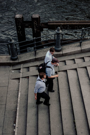 Men Real People Full Length High Angle View Railing Staircase Lifestyles Architecture Two People People Leisure Activity Casual Clothing Day Women Adult Bonding Steps And Staircases Childhood Child Males  Outdoors Walking Stairs Climbing Stairs Stairs Berlin Berliner Dom Street Streetphotography The Street Photographer - 2019 EyeEm Awards