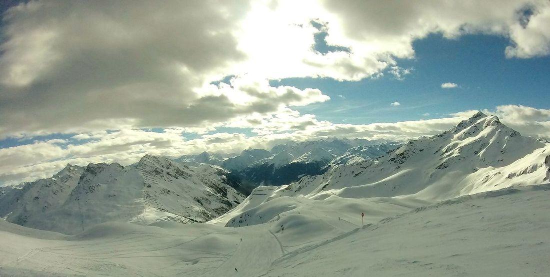 Snow Mountain Mountain Range Cloud - Sky Cold Temperature Winter Sky Landscape Nature Beauty In Nature Skiing 🎿 View Montafon Austria Silvretta Montafon Blue Sky