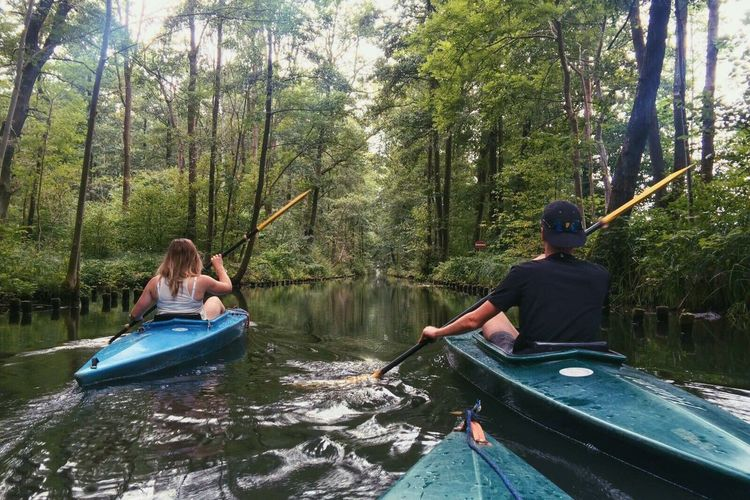 Kayak Kayaking In Nature Boat Canoe Nature Nature Photography Nature_collection Nature On Your Doorstep Outdoors Two Is Better Than One Day Out Outing Lübbenau Spreewald Fatherhood Moments The Color Of Sport
