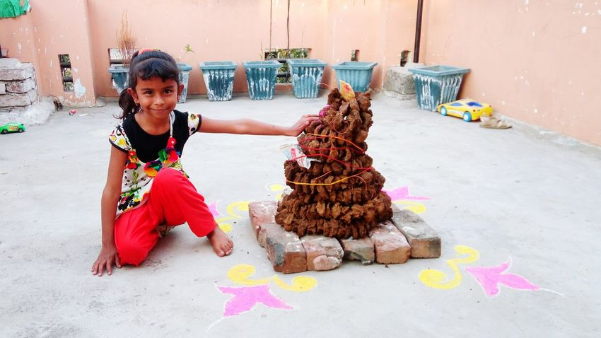 Preparing for Holika Dahan - Start of Colourful Holi in India Traditional Culture Holi Holikadahan Holi Eve - A Day Before Colourful Holi Holi Eve EyeEm Selects Child Smiling Happiness Childhood EyeEmNewHere