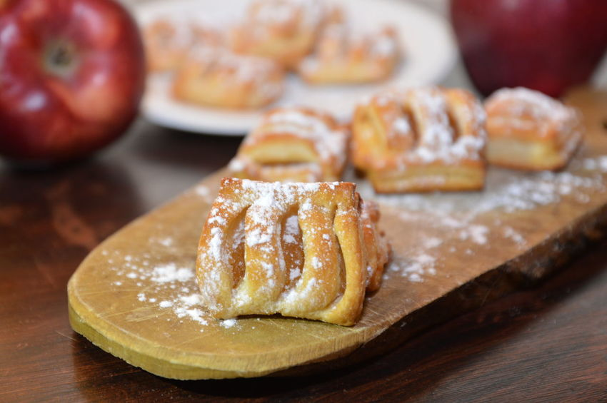 strudel cookies Food Food And Drink Sweet Food Fruit Table Close-up Freshness Indoors  Apple - Fruit No People Dessert Ready-to-eat