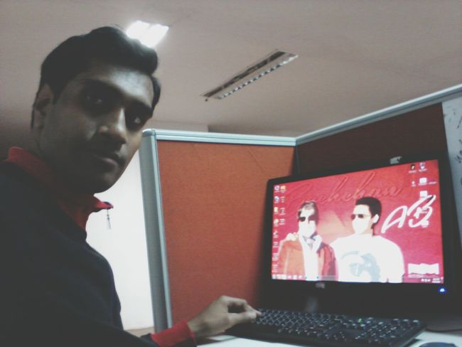 Bachchans on my screen @juniorbachchan @SrBachchan Workplace Workspace SGS2