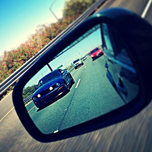 @jewliioos197 Mustang Stang Mustangclub Mustangcrew rolling shot mirror americanmuscle American muscle california special lowlife cruisin highway sac sacramento racing forged blue black traffic