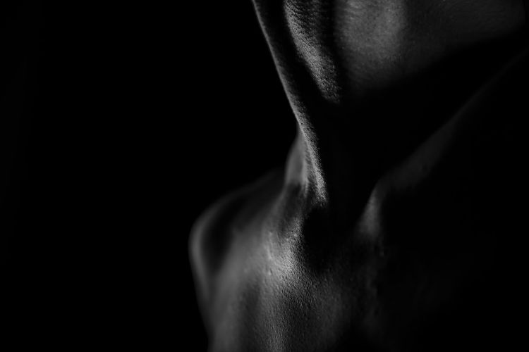 the body portrait Adult Adults Only Black Background Blackandwhite Body Curves  Bodyart Close-up Human Back Human Body Part Human Skin Indoors  Lifestyles Man Men Muscular Build One Man Only One Person People Portrait Real People Shirtless Shoulder Studio Shot The Portraitist - 2017 EyeEm Awards EyeEmNewHere
