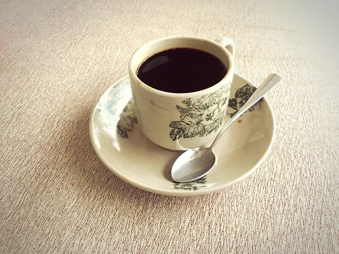 Coffee Morning Drink Refreshment Food And Drink Cup Mug Coffee Coffee Cup Still Life Food Kitchen Utensil High Angle View Spoon Freshness Indoors  Table Saucer Eating Utensil Crockery Coffee - Drink Tea