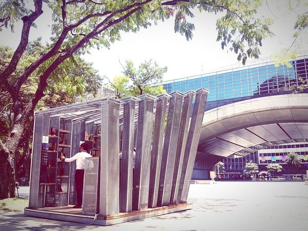 Mini library for sharing books in the middle of one of the busiest metropolitan in the Philippines. First Eyeem Photo