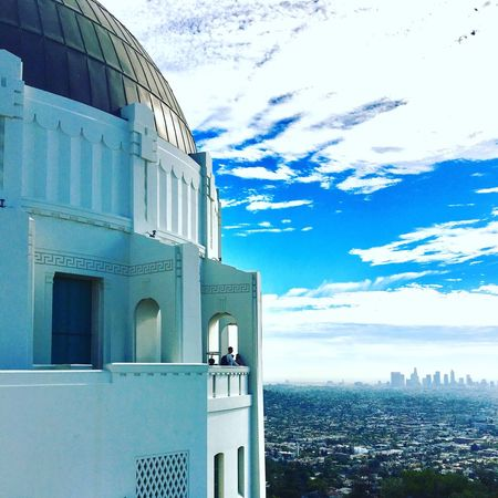 Griffith Observatory is a Los Angeles icon. The Observatory is located on the southern slope of Mount Hollywood in Griffith Park, just above the Los Feliz neighborhood. It is 1,134 feet above sea level and is visible from many parts of the Los Angeles basin. Architecture Building Exterior Built Structure Sky Blue Cloud - Sky Day Dome No People Outdoors Nature Los Ángeles Clouds Observatory Griffith Observatory
