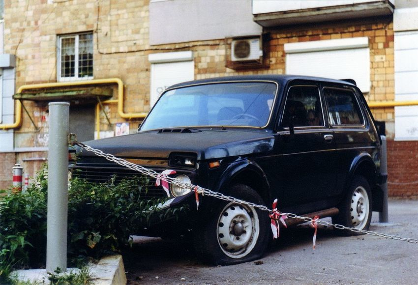 35mm Day Deterioration Land Vehicle Mode Of Transport No People Old Outdoors Parked Parking Stationary Transportation Vehicle Vintage Car