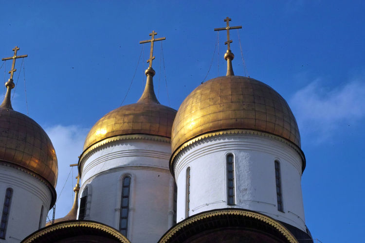 Kremlin Cathedral Architecture Building Exterior Built Structure Day Dome Kremlin Moscow In March No People Outdoors Place Of Worship Religion Russian Orthodox Church Sky Spirituality
