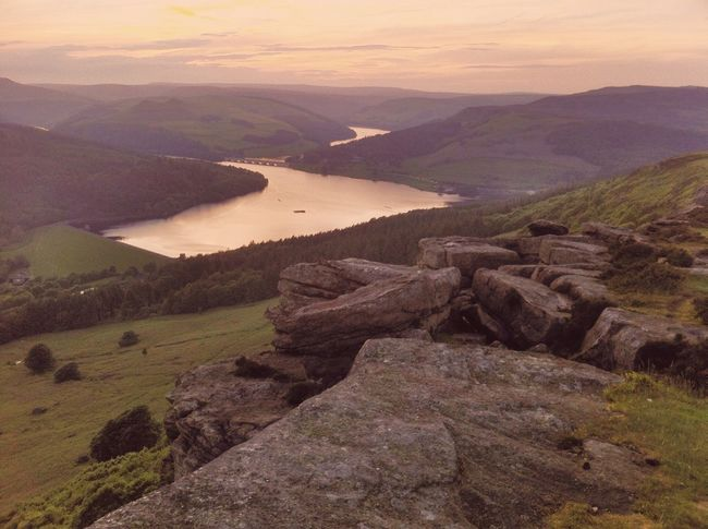 Sunset over Ladybower Peak District  Landscape Check This Out Taking Photos
