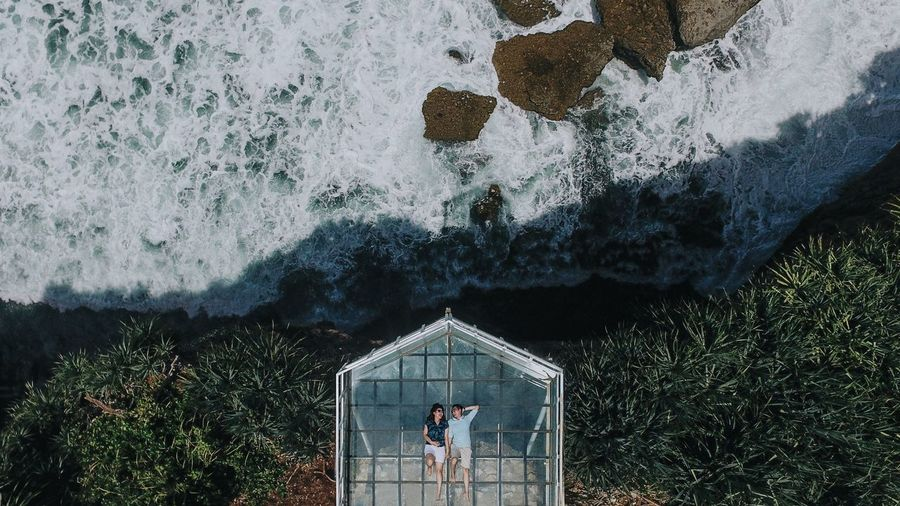 couple Stay Out Nature Coastline Aerial View Birds Eye View Drone  Lovers Couple Relaxing Water Tree Sky Architecture Built Structure Building Exterior Shore Tranquility Beauty In Nature Scenics The Traveler - 2019 EyeEm Awards