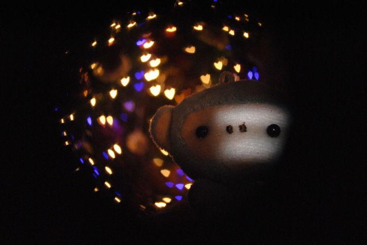 Navidad Bokeh Lights Heart Corazones De Amor Light Christmas Lights