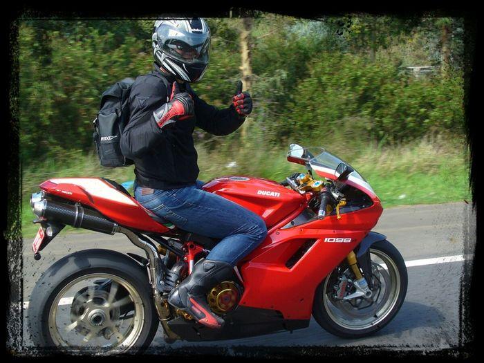 look mum. no hands. :-) Sydney Self Portrait Ducati 1098R Motorcycles