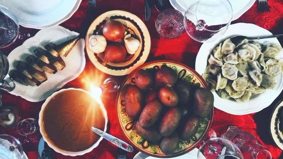 Christmas #happy Christmastime Christmasfood Ukraine Tradition Happiness Gnammy Food Cibo Natale  Parte2 Secondpart  Red Family Timetogether Tavola Різдво Food And Drink Food Plate Table Ready-to-eat Indoors  Freshness No People Food Stories