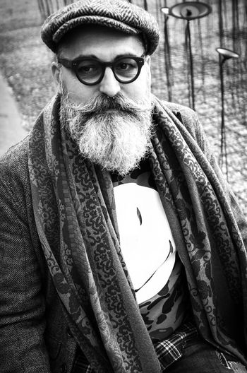 Pittiuomo85 Street Fashion Portrait Blackandwhite