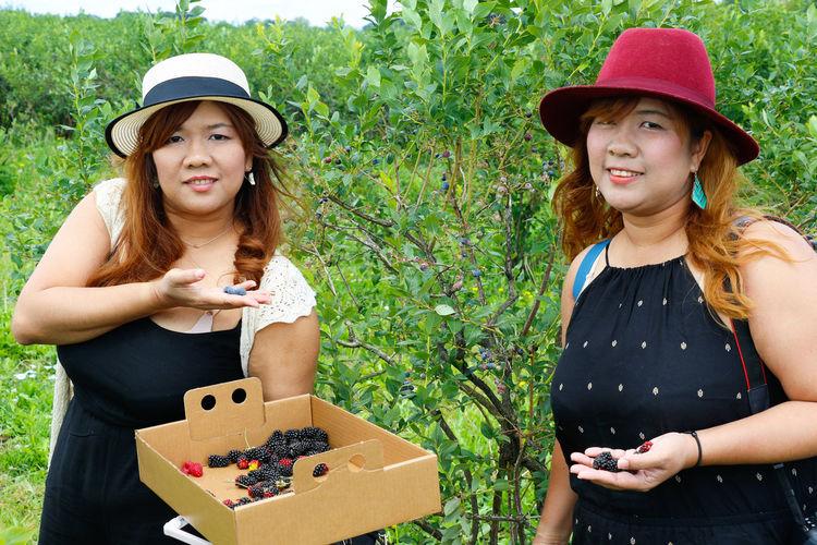 Portrait of women in farm
