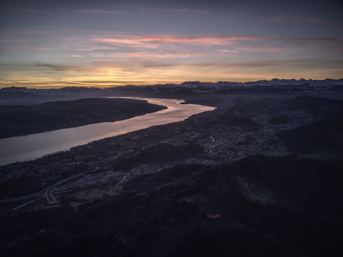 Drone  Zürich Zürichsee Aerial Photography Beauty In Nature Cloud - Sky Day Dronephotography Landscape Nature No People Outdoors Scenics Sky Sunrise Sunset Tranquil Scene Tranquility Water