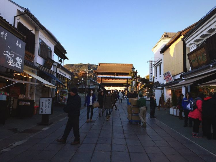 Clear Sky Building Exterior Built Structure Real People Market Street Architecture Retail  Outdoors City For Sale Market Stall Men Day Large Group Of People Women Sky Japanese Temple Japanese Traditional Temple - Building Pathway Travel Destinations Landmarkbuildings Traditional Architecture Traditional Building Miles Away