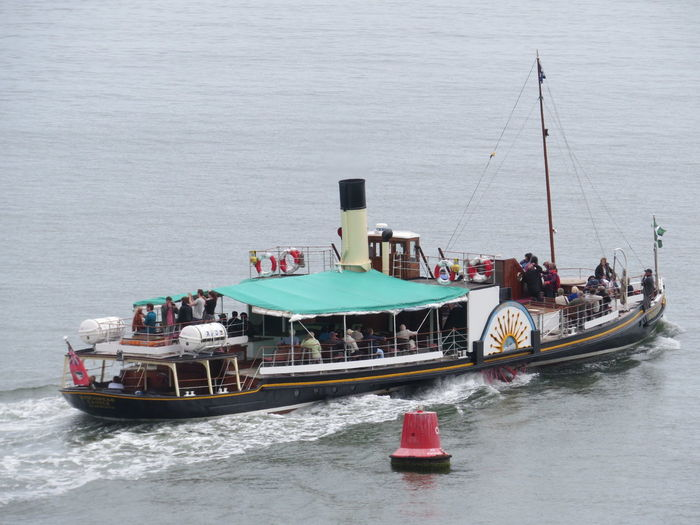 'Kingswear Castle' Boat Mode Of Transport Nautical Vessel Paddle Steamer Pleasure Boat Sea Transportation Water