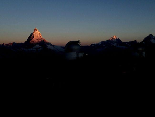 Matterhorn  3100kulmhotel Gornergrat Swiss Switzerland Morgen Morgenrot