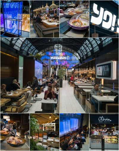 Food And Drink Eating Out Onthego Station Converted Building Upmarket Western Collage Tourism Meetin Place Composition Panels Glass Design People