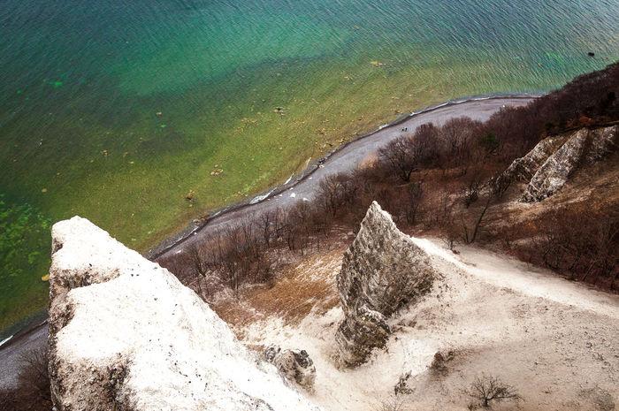 Aquamarine Baltic Sea Beach Shore Chalk Cliffs Clay Day High Angle View Jasmund Kreidefelsen Königsstuhl No People Ostsee Rügen Sea Shore Stubbenkammer Water Water Edge