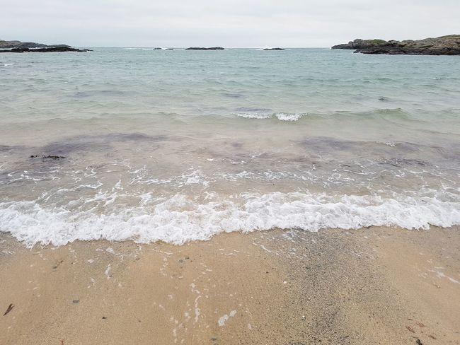 Trearddur Bay Beach Beach Angelsey Sea Sand Water Tranquility Horizon Over Water Outdoors Wave Nature Tranquil Scene No People Day Scenics Summer Sky Beauty In Nature Vacations Landscape Low Tide Close-up