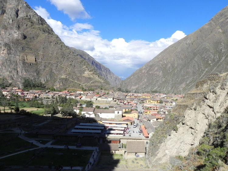 Ollantaytambo - Peru Beauty In Nature Built Structure Day Landscape Mountain Sky Travel Destinations