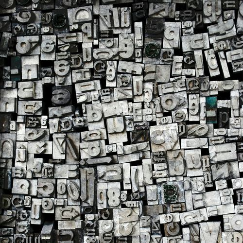 My Lost Proberty Metal Typography Confused Textures And Surfaces Collection Historical Things Organized Neatly Letters Art A Lot Of! NEM Memories Vintage Technology Abstract Shades Of Grey Gutenberg Muster Mix Typo Around The World Beautifully Organized Fine Art Backgrounds
