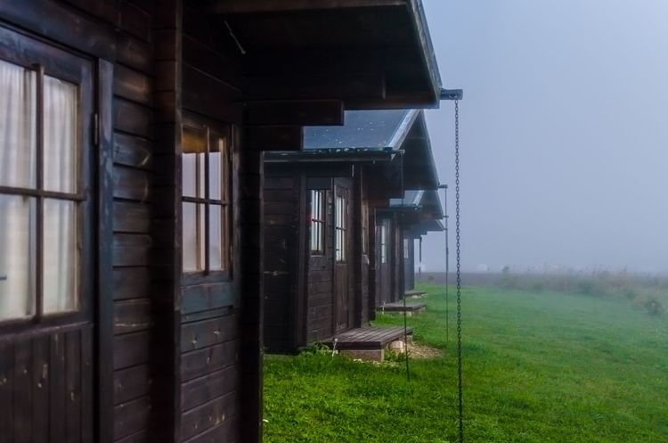Good morning. No fog lasts. It will brighten up. Rural Escape Vacation Countryside New Day Arise Misty Morning Foggy Morning Hazey Haze Foggy Mist Wooden Cabin Wooden Structure Cabins  Houses Saaremaa Saaremaa Island Morning Good Morning Grass No People Built Structure Field Outdoors