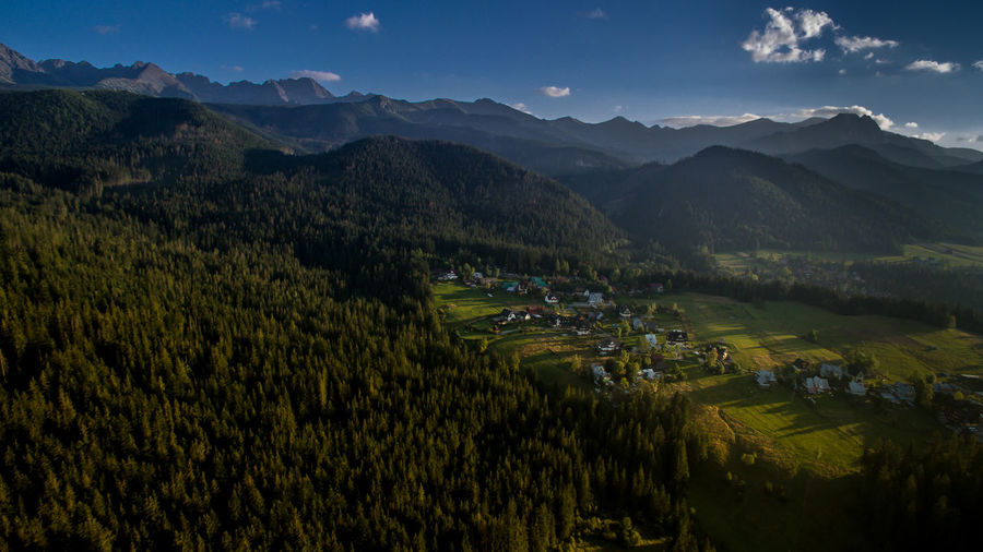 Zakopane By Drone Summer Beauty In Nature Blue Sky Countryside Drone  Droneshot Green Color High Angle View Landscape Mountain Mountain Range Mountains And City Mountains And Clouds Mountains And Sky Mountains And Valleys Nature No People Non-urban Scene Outdoors Sky Summer Summertime Valley Zakopane ♥ Zakopane, Poland