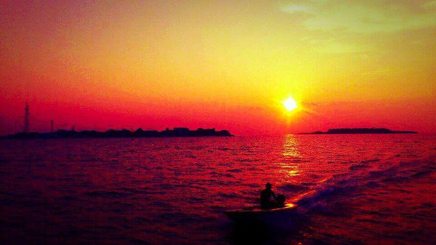 Sun Set Sun Sea View Maldives