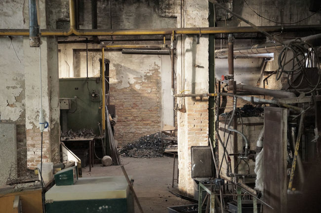 Abandoned Brick Wall Communication Desolate Factory Glass Factory Indoors  Industry No People Pipe - Tube Tubes
