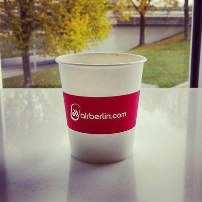 Having a coffee and enjoying the @airberlin lounge area! Coffeetweet ☕ Upintheair Flyingpmi