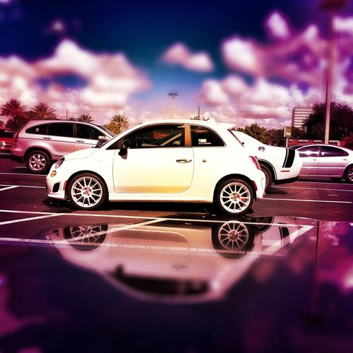 First500 NEM Submissions AbarthOnly Abarth Fiat Parked NEM Clouds Cloudscape Vehicle Fiatusa Fiat500 Abarthgram Fiat 500 Abarth