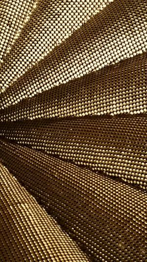 Gold Abstract Angles Metallic Circles Triangles Sequins Ceiling Art ArtWork