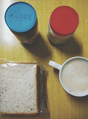 - breakfast time - Breakfast Time Morning Skippy Horlicks Bread Taking Photos Mondayblues DontWannaGoToWork
