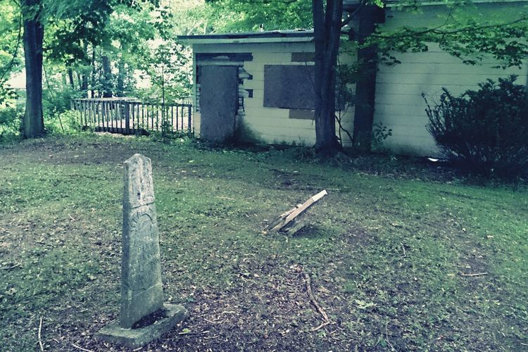 EyeEm_abandonment Abandoned Buildings Cemetery Boarded Up Graveyard Green