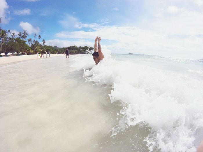 Feel The Journey Feel The Wave Havingfun Hand Up For Bohol Clear Water Trying To Catch A Wave Folow Your Adventur Follow Your Adventures Heart Free Spirit Simple Thing Big Smiles Tatto Feel The Sea