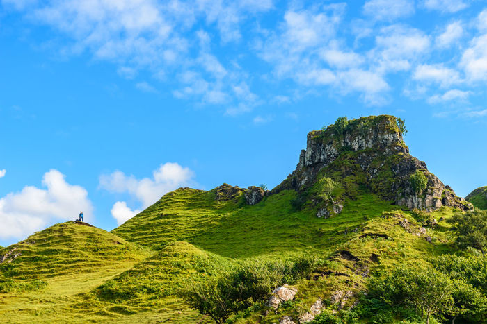 Fairy Glen Scotland Scottish Uig Beauty In Nature Blue Cliff Cloud - Sky Day Grass Green Color Highlands Landscape Low Angle View Mountain Nature No People Outdoors Physical Geography Rock - Object Rock Formation Scenics Sky Slope Tranquil Scene Tranquility Travel Destinations