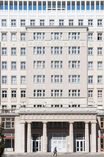 Full frame shot of office building in city