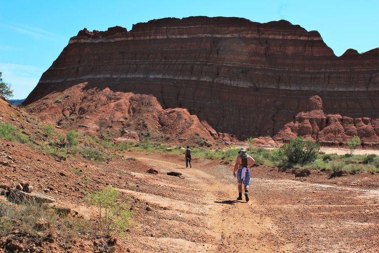 Rear View Of People Walking At Grand Canyon National Park