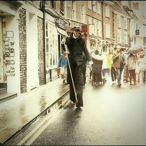 Stand Out From The Crowd Man Stilts York England