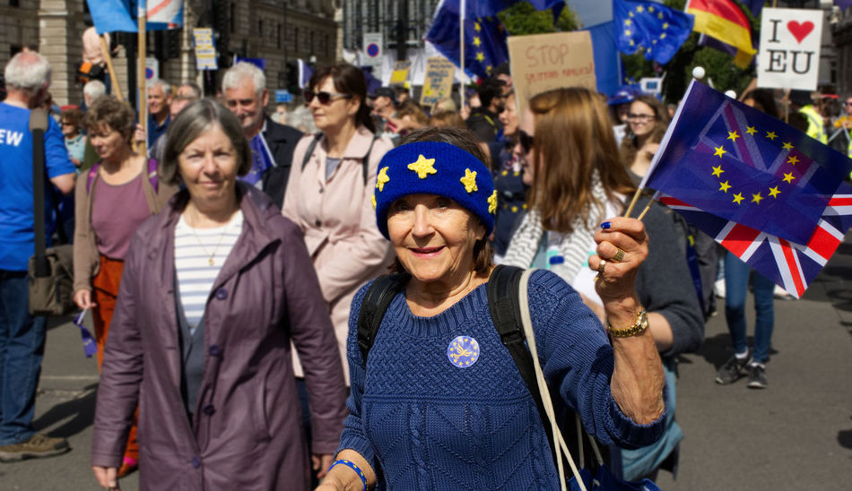 Brexit Protest Brexit Vote Protest Adult Adults Only Brexit Celebration Cheerful City Crowd Day Europe Flag Happiness Large Group Of People Men Only Women Outdoors Patriotism People Portrait Pride Protestor Real People Smiling Togetherness Unity Women Young Adult