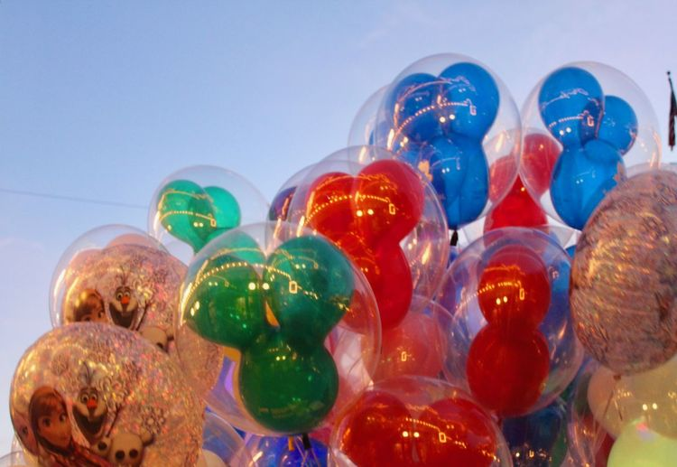 Outdoorphotography Outdoors Magic Disney Mickey Colours Colourful Balloons Celebration Low Angle View No People Indoors  Multi Colored Close-up Day