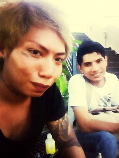 Throwback. Me and bro Khaleej, visiting my ex Cleo's baby boy warded in KK Hospital. PhantomKia EhAh LaFamiliaAhDawnKia