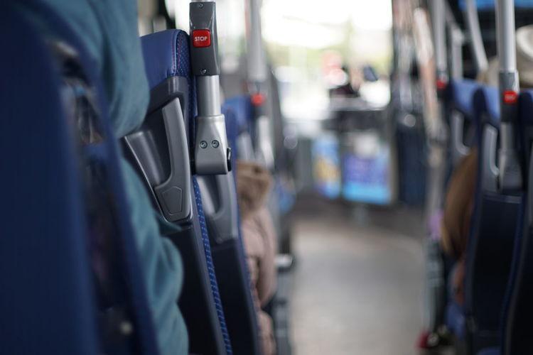 Public Transportation Close-up Vehicle Seat Bus Passenger Cabin Double-decker Bus Passenger Seat Belt This Is Aging Adventures In The City