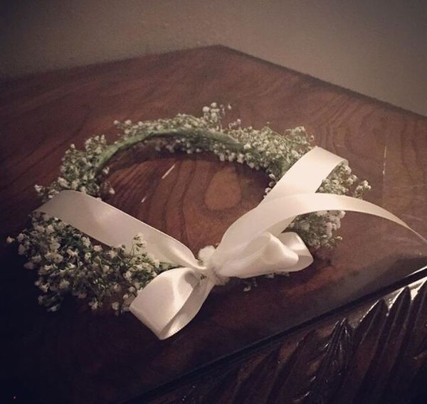 Babysbreath Flowercrown  Crown Wedding Babybreath White
